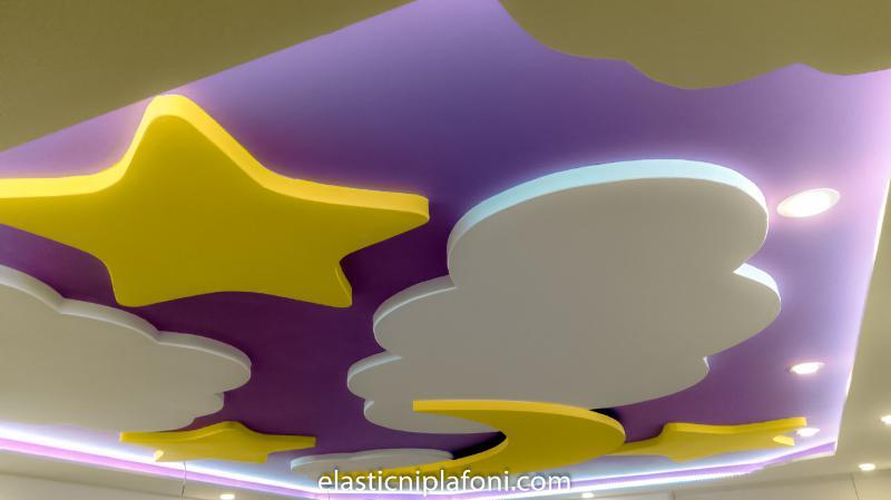 Elastični plafoni - Dečije sobe - 3D modeling